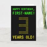 "[ Thumbnail: Fun, Geeky, Nerdy ""3 Years Old!"" Birthday Card ]"