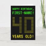 "[ Thumbnail: Fun, Geeky, Nerdy ""40 Years Old!"" Birthday Card ]"
