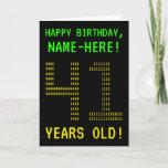 "[ Thumbnail: Fun, Geeky, Nerdy ""41 Years Old!"" Birthday Card ]"