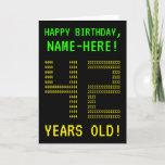 "[ Thumbnail: Fun, Geeky, Nerdy ""42 Years Old!"" Birthday Card ]"