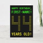 "[ Thumbnail: Fun, Geeky, Nerdy ""44 Years Old!"" Birthday Card ]"