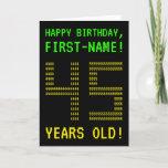 "[ Thumbnail: Fun, Geeky, Nerdy ""45 Years Old!"" Birthday Card ]"