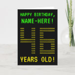 "[ Thumbnail: Fun, Geeky, Nerdy ""46 Years Old!"" Birthday Card ]"