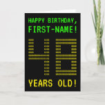"[ Thumbnail: Fun, Geeky, Nerdy ""48 Years Old!"" Birthday Card ]"