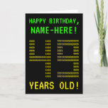 "[ Thumbnail: Fun, Geeky, Nerdy ""49 Years Old!"" Birthday Card ]"