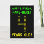 "[ Thumbnail: Fun, Geeky, Nerdy ""4 Years Old!"" Birthday Card ]"