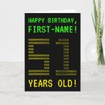 "[ Thumbnail: Fun, Geeky, Nerdy ""51 Years Old!"" Birthday Card ]"