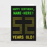 "[ Thumbnail: Fun, Geeky, Nerdy ""52 Years Old!"" Birthday Card ]"