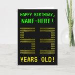 "[ Thumbnail: Fun, Geeky, Nerdy ""53 Years Old!"" Birthday Card ]"