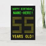 "[ Thumbnail: Fun, Geeky, Nerdy ""55 Years Old!"" Birthday Card ]"