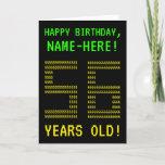 "[ Thumbnail: Fun, Geeky, Nerdy ""56 Years Old!"" Birthday Card ]"