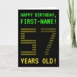 "[ Thumbnail: Fun, Geeky, Nerdy ""57 Years Old!"" Birthday Card ]"