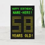 "[ Thumbnail: Fun, Geeky, Nerdy ""58 Years Old!"" Birthday Card ]"