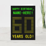 "[ Thumbnail: Fun, Geeky, Nerdy ""60 Years Old!"" Birthday Card ]"