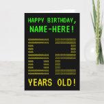 "[ Thumbnail: Fun, Geeky, Nerdy ""62 Years Old!"" Birthday Card ]"
