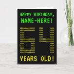 "[ Thumbnail: Fun, Geeky, Nerdy ""64 Years Old!"" Birthday Card ]"