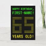 "[ Thumbnail: Fun, Geeky, Nerdy ""65 Years Old!"" Birthday Card ]"