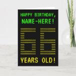 "[ Thumbnail: Fun, Geeky, Nerdy ""66 Years Old!"" Birthday Card ]"
