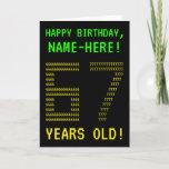 "[ Thumbnail: Fun, Geeky, Nerdy ""67 Years Old!"" Birthday Card ]"