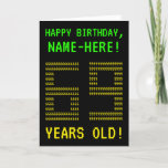 "[ Thumbnail: Fun, Geeky, Nerdy ""69 Years Old!"" Birthday Card ]"
