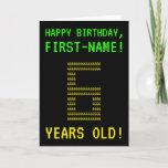 "[ Thumbnail: Fun, Geeky, Nerdy ""6 Years Old!"" Birthday Card ]"