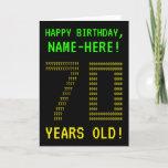 "[ Thumbnail: Fun, Geeky, Nerdy ""70 Years Old!"" Birthday Card ]"