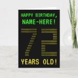 "[ Thumbnail: Fun, Geeky, Nerdy ""72 Years Old!"" Birthday Card ]"