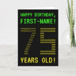 "[ Thumbnail: Fun, Geeky, Nerdy ""75 Years Old!"" Birthday Card ]"