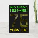 "[ Thumbnail: Fun, Geeky, Nerdy ""76 Years Old!"" Birthday Card ]"