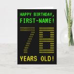 "[ Thumbnail: Fun, Geeky, Nerdy ""78 Years Old!"" Birthday Card ]"