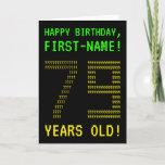 "[ Thumbnail: Fun, Geeky, Nerdy ""79 Years Old!"" Birthday Card ]"
