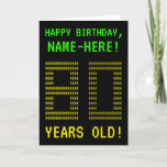 "[ Thumbnail: Fun, Geeky, Nerdy ""80 Years Old!"" Birthday Card ]"