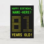"[ Thumbnail: Fun, Geeky, Nerdy ""81 Years Old!"" Birthday Card ]"
