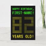 "[ Thumbnail: Fun, Geeky, Nerdy ""82 Years Old!"" Birthday Card ]"