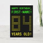 "[ Thumbnail: Fun, Geeky, Nerdy ""84 Years Old!"" Birthday Card ]"