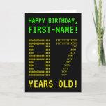 "[ Thumbnail: Fun, Geeky, Nerdy ""87 Years Old!"" Birthday Card ]"