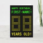 "[ Thumbnail: Fun, Geeky, Nerdy ""88 Years Old!"" Birthday Card ]"