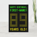 "[ Thumbnail: Fun, Geeky, Nerdy ""89 Years Old!"" Birthday Card ]"