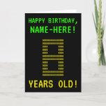 "[ Thumbnail: Fun, Geeky, Nerdy ""8 Years Old!"" Birthday Card ]"