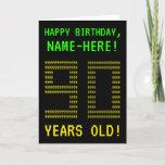 "[ Thumbnail: Fun, Geeky, Nerdy ""90 Years Old!"" Birthday Card ]"
