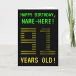 "[ Thumbnail: Fun, Geeky, Nerdy ""91 Years Old!"" Birthday Card ]"