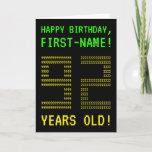 "[ Thumbnail: Fun, Geeky, Nerdy ""92 Years Old!"" Birthday Card ]"