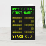 "[ Thumbnail: Fun, Geeky, Nerdy ""93 Years Old!"" Birthday Card ]"
