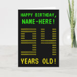 "[ Thumbnail: Fun, Geeky, Nerdy ""94 Years Old!"" Birthday Card ]"