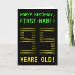 "[ Thumbnail: Fun, Geeky, Nerdy ""95 Years Old!"" Birthday Card ]"
