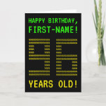 "[ Thumbnail: Fun, Geeky, Nerdy ""96 Years Old!"" Birthday Card ]"