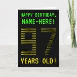 "[ Thumbnail: Fun, Geeky, Nerdy ""97 Years Old!"" Birthday Card ]"