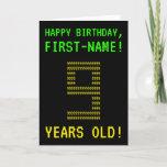 "[ Thumbnail: Fun, Geeky, Nerdy ""9 Years Old!"" Birthday Card ]"