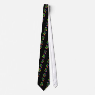 Fun Geometric Abstract Art with owl Neck Tie