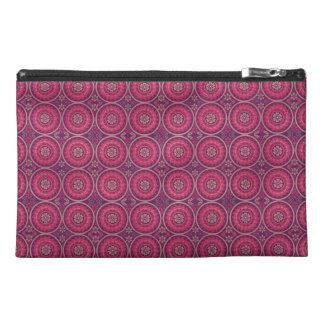Fun Geometric Floral in Pink and Purple Travel Accessory Bag